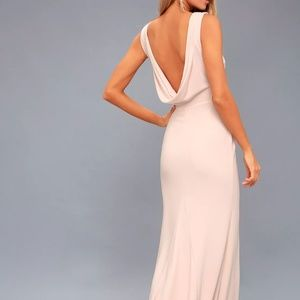 Call Me By My Name Backless Maxi Dress, Blush Pink